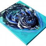 A New Breed in Blues  Modern Abstract Fish Art Artwork Paintings J Vincent Scarpace
