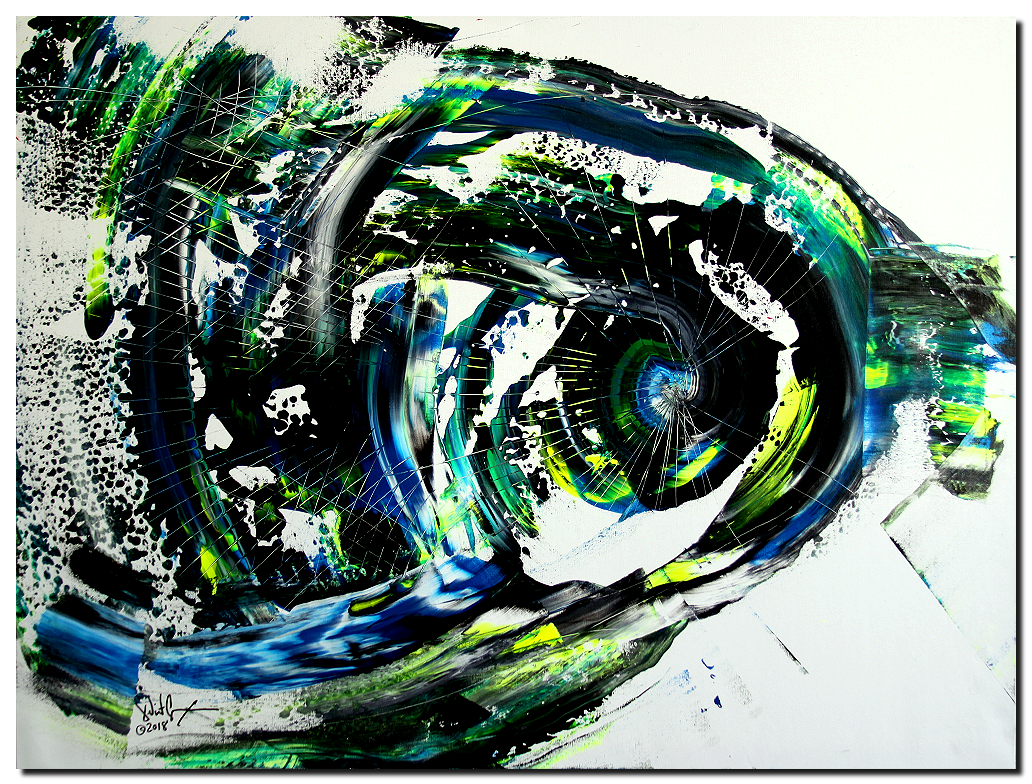 Climate Change Fish  Modern Abstract Fish Art Artwork Paintings J Vincent Scarpace