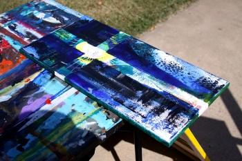 Raindrops keep falling   Modern Abstract Fish Art Artwork Paintings J Vincent Scarpace