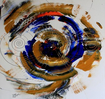 Perpetuality  Modern Abstract Fish Art Artwork Paintings J Vincent Scarpace