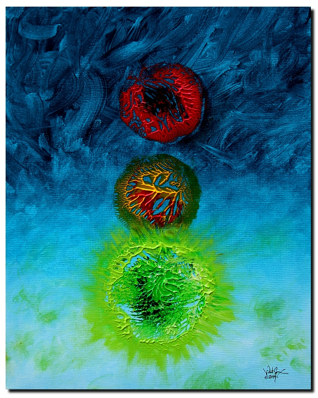 Go  Modern Abstract Fish Art Artwork Paintings J Vincent Scarpace
