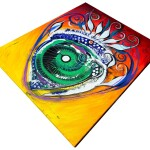 Happy Fish Compliments Transcending Time  Modern Abstract Fish Art Artwork Paintings J Vincent Scarpace